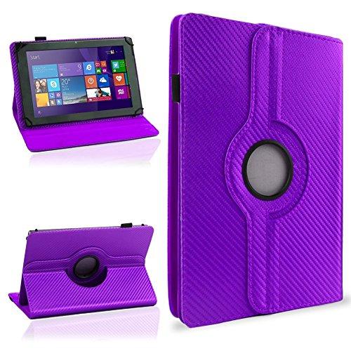 NAUC Tasche Hülle für ODYS Ieos Quad 10 Pro Schutzhülle Tablet Cover Case Bag Etui, Modellauswahl:Lila Carbon-Erscheinungsbild 360°