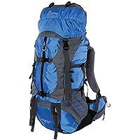 Vbiger Mochilas de 80L Impermeable con Cubierta de lluvia para Viajes Senderismo de Alpinismo Azul