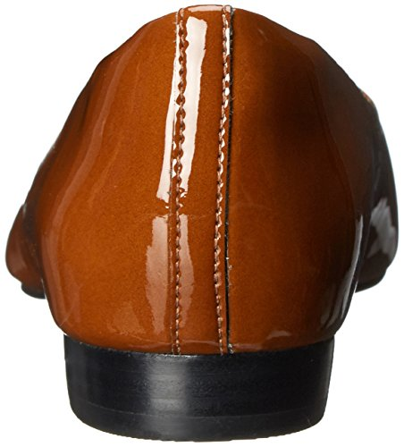 Clarks Corabeth Abby piatto Cognac Patent Leather