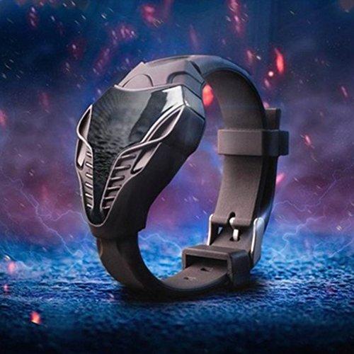 Cobra Shape LED-Digitaluhr für Herren, Sportuhr mit schwarzem LED-Digital-Uhr, Silikon, Kobra-Dreieck Zifferblatt, Sportuhr 24.8cm Schwarz
