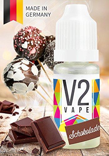 V2 Vape E-Liquid Schokolade - Luxury Liquid für E-Zigarette und E-Shisha Made in Germany aus natürlichen Zutaten 10ml 0mg nikotinfrei