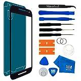 MMOBIEL Front Glas Reparatur Set kompatibel mit Motorola Nexus 6 XT1100 XT1103 (Schwarz) Bildschirm mit Werkzeug-Set