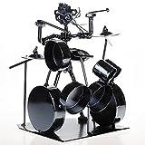 OSDFN Drum Kit Set Persönlichkeit kreative Geschenke Musik Kunst Collectibles - Reine Handarbeit - Eisen