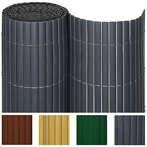 SolVision Canisse en PVC Haie Brise-vue Jardin Terrasse Balcon Protection Regards Vent Soleil 90x300cm -