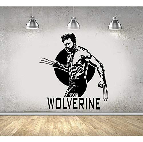 Wandaufkleber Wolverine Wandtattoo Vinyl AufkleberComics Kunst X-MenKids Boy Home Raumdekoration Fenster Poster Dekor 57x65cm (Wolverine Wandtattoo)
