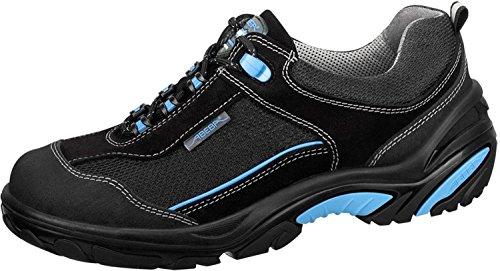 Abeba 4571-48 Crawler Chaussures de sécurité bas Taille 48 Noir/Bleu