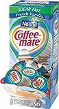 Coffee-Mate Coffee Creamer, Sugar Free French Vanilla Liquid Singles, 0.375-Ounce Creamers (Pack of 50)