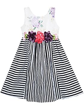 Mädchen Kleid Ärmellos Streifen