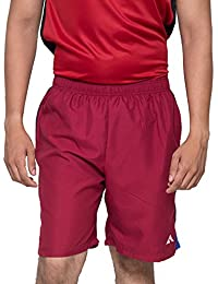 Acetone Solid Men's Running Shorts(USH3_Red_28)