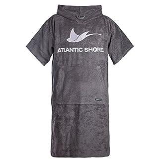 Atlantic Shore | Surf Poncho ➤ Bademantel / Umziehhilfe aus hochwertiger Baumwolle ➤ Grey - Long