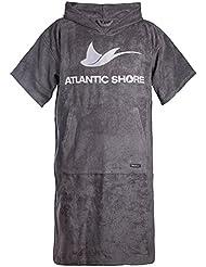 Atlantic Shore | Surf Poncho (Unisex) * Peignoir / Déshabillé de cotton de haute qualité ➤ Gris
