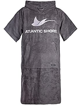 Atlantic Shore | Surf Poncho ☆ Bademantel / Umziehhilfe aus hochwertiger Baumwolle ➤ Grey / Grau