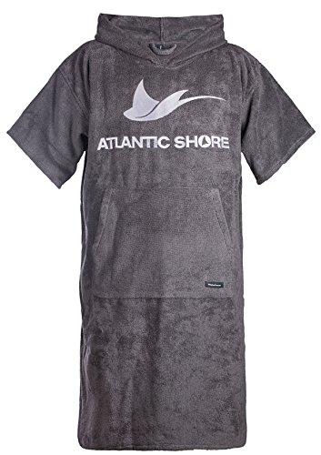 Atlantic Shore | Surf Poncho ➤ Bademantel / Umziehhilfe aus hochwertiger Baumwolle ➤ Grey - Middle