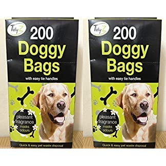 400 DOGGY BAGS Scented Pet Pooper Scooper Bag Dog Cat Poo Waste Toilet Poop 51kHSVguEuL