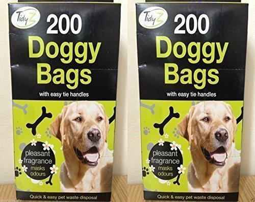 400 DOGGY BOLSAS Perfumado Mascota Cuchara Aguafiestas Bolsa Perro Gato Deshechos Residuos Wc Caca