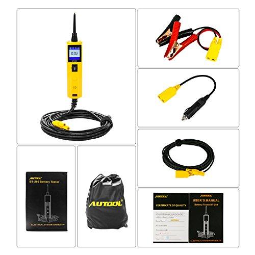 Autool 6V / 12V / 24V Batterietester Analysator Auto Batterie Direkte Gesundheitsprüfer, Anlasssystem Test und Ladesystem Test (BT260)
