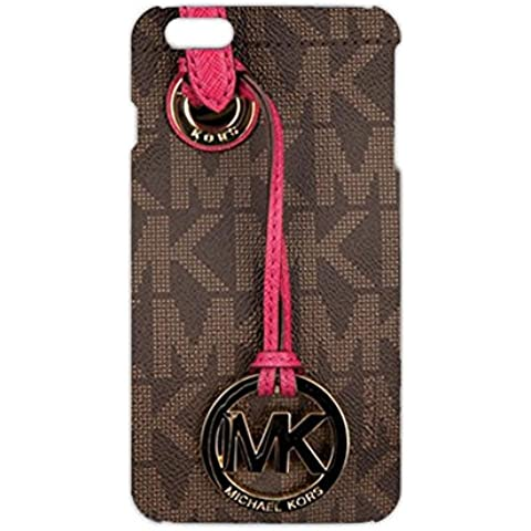 MK Key Image Logo Slim Luxury Phone Case Cover For Iphone 6Plus/Iphone 6s&Plus Michael Kors Browm And Pink Back Design For