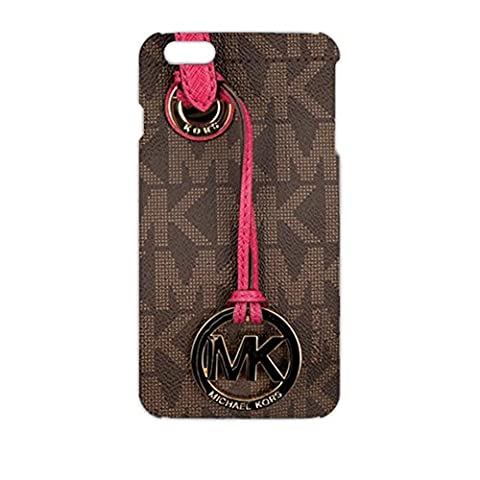 MK Key Image Logo Slim Luxury Phone Case Cover For Iphone 6Plus/Iphone 6s&Plus Michael Kors Browm And Pink Back Design For Lady
