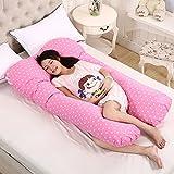 OurLeeme Cuscini per Gravidanza, Forma U Cuscino per Il Sonno Completo per Il Corpo Cuscino maternità per L'Allattamento Cuscino Ultra Morbido con Rivestimento sfoderabile (112 x 60 cm, Rosso)