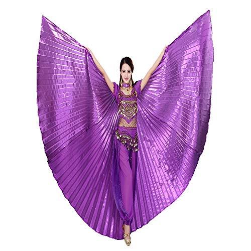 Kostüm Gold Wings - HUO FEI NIAO Bauchtanz Props - Bauchtanz Gold Wings Requisiten Gold Flügel Big Gold Wings Show Flügel Tanz Kostüm 360 Grad farbige Flügel (Farbe : Lila, größe : 175)