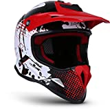 Soxon SKC-33 'Fusion White Red' · Kinder-Cross-Helm · Motorrad-Helm MX Cross-Helm MTB BMX...