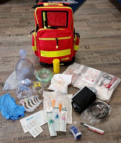 Preisvergleich Produktbild Notfallrucksack Gr. L - Nylon- komplett gefüllt - Rettungsdienst - Notfalltasche - MIH Medical