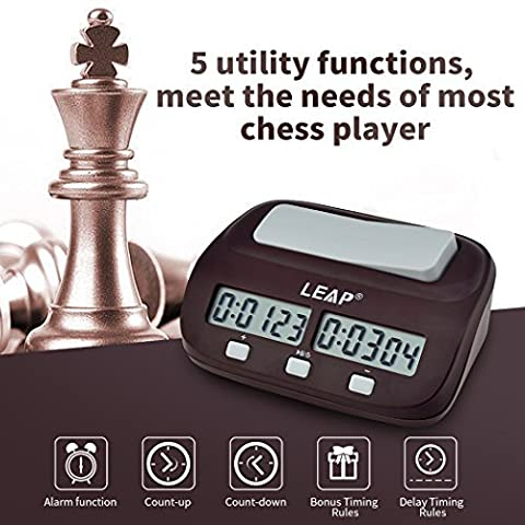 inkint Professional Digital Chess Clock Count Down Timer with Alarm