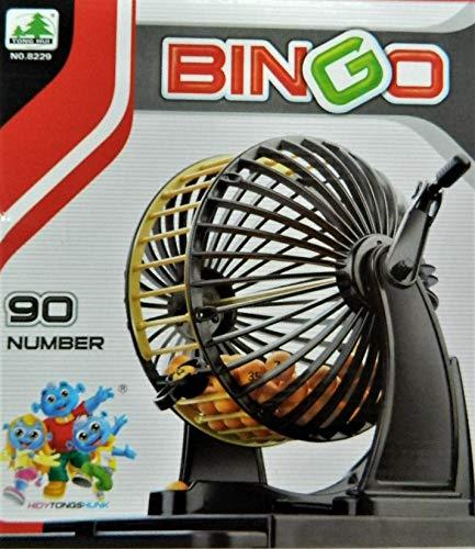 Jeux Roulette à manivelle Loto ou Bingo 24 cartons + 90 Boules Jeu Bingo avec Roulette et Billes