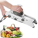 Vruta Adjustable Stainless Steel Mandoline Slicer,Manual Kitchen Cutter Shredder Julienne for Grinding, Cutting,Slicing