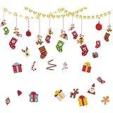 Wandtattoos Tattoo An Der Wand Blumen Wandtattoos & Wandbilder Weihnachtsglasfenster Mit Doppelseitigen Aufklebern An Der Tür Des Einkaufszentrums