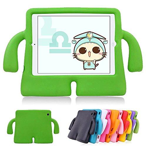 Funda protectora de espuma infantil,CLOUDSTOO protectora suave para Apple iPad 2/3/4 A prueba de golpes Kids Safe Foam Mango Cartoon Case Cover Stand para iPad 2/3/4,color verde