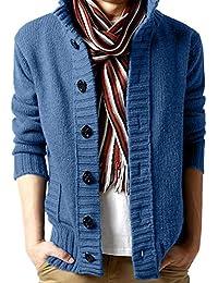 Homebaby Uomo Maglione Cardigan in Maglia Cappotto Anteriore Aperto con  Tasca Pullover Maglione Caldo Sportiva Giacca Manica… c0a01f9750f