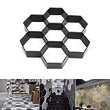 Hergon Silikonform, Hexagon-Gartenpflasterform DIY Schmuckherstellung Kuchen Dekor Mold Dekorieren Tool