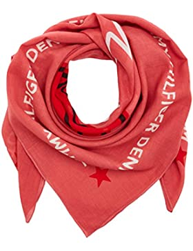 Tommy Hilfiger Damen Schal Tatoo Kiss Denim Scarf, Rosa (Holly Berry 509), One size (Herstellergröße: OS)