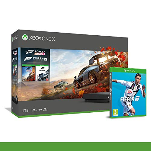 Xbox One X 1TB + Forza Horizon 4 + FIFA 19 + 14gg Xbox Live Gold + 1 Mese Gamepass [Bundle]