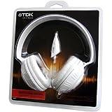 TDK Life on Record MPi110 Casque Audio Circum Auriculaire avec Micro et Télécommande Intégré - Blanc
