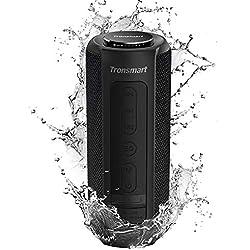 Tronsmart T6 Plus Enceinte Bluetooth 40W, Haut Parleur Portable d'extérieur avec Powerbank, 15 Heures Playtime, étanche IPX6, TWS Stéréo et Basses Puissantes, Speaker Bluetooth 5.0, Mains Libres