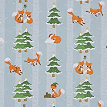 Christmas Fox Gift Wrap & Tag by Maia Gifts