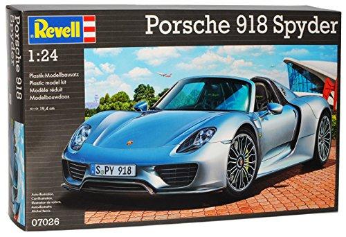 Porsche 918 Spyder Silber 07026 Bausatz Kit 1/24 Revell Modell Auto mit individiuellem Wunschkennzeichen