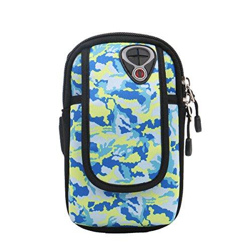 PB-SOAR Universal Neopren Camo Armband Oberarmtasche Armtasche für Handy Smartphone Schlüssel Kredikarten und Zubehör, ideales Auswahl für Fitness Sport Freizeit usw (Farbe 2, L)