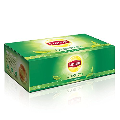 Lipton Pure and Light Green Tea Bags, 130g (100 Pieces)