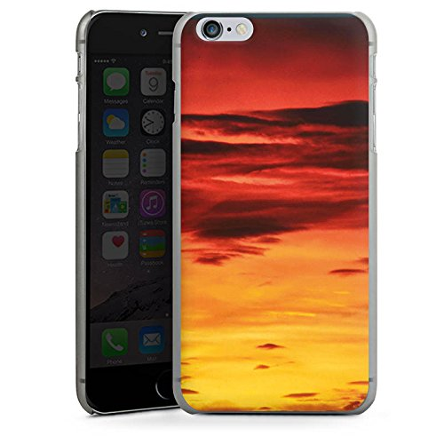 Apple iPhone X Silikon Hülle Case Schutzhülle Abendrot Wolken Sonnenuntergang Hard Case anthrazit-klar