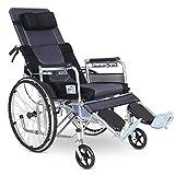 T-Day Rollstühle Rollstühle, Leichte Zusammenklappbare Selbstfahrende Rollstuhl Mit Handbremsen, Full/Semi-Liegerad Rollstuhl, Portable