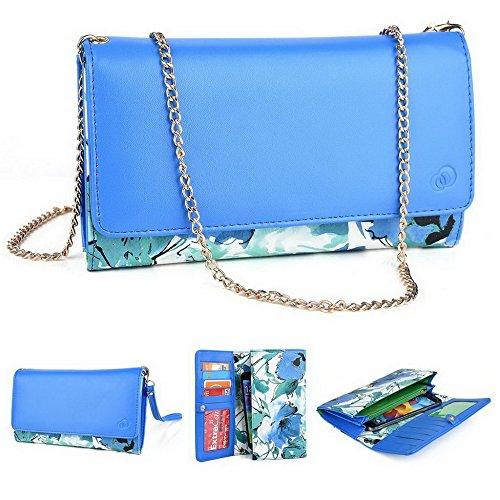 Kroo Pochette Crocodile pour portefeuille et étui pour Asus Padfone/ZenFone 4 Multicolore - magenta Multicolore - vert