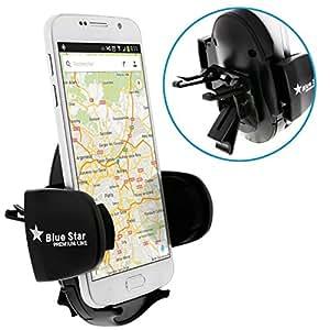 Avizar - Support Voiture Universel Smartphone / Fixation Grille Aération - Noir