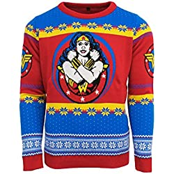 Official Wonder Woman Christmas Jumper/Ugly Sweater - UK 2XL / US XL