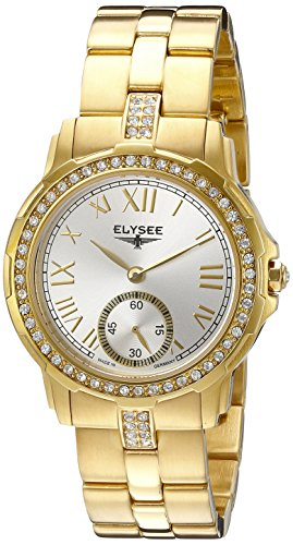 ELYSEE Made in Germany Melissa 22004S 33mm Gold Plated Stainless Steel Case Gold Tone Steel Bracelet Mineral Women's Watch