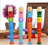 ♥ Loveso ♥-Spielzeug Pädagogisches Spielzeug-Geschenk für Kinder Bunte hölzerne Trompete Buglet Hooter-Signalhorn -