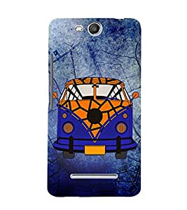 Goods Carrier Vintage 3D Hard Polycarbonate Designer Back Case Cover for Micromax Canvas Juice 3+ Q394 :: Micromax Canvas Juice 3Plus Q394