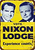 BDTS 1960 Vote Nixon and Lodge Vintage Look Reproduction Metal Tin Sign 8X12 inches